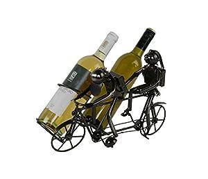 Tandem Fahrrad Flaschenhalter Metall Weinflaschenhalter Sekthalter Figur Deko