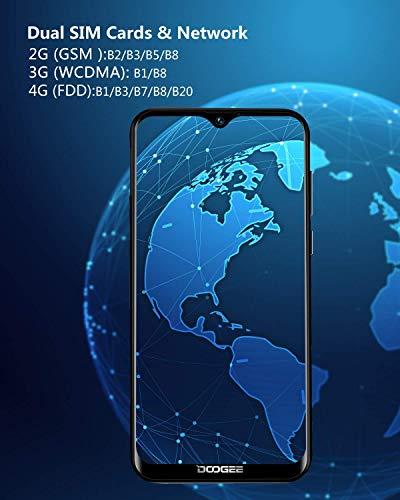 Télephone Portable débloqué Pas Cher 4G, DOOGEE Y8 2019 Smartphone Android 9,0 Mobile 6,1Pouces 19.9 HD+ Goutte d'eau, 3Go+16Go MT6739 Dual ... 8