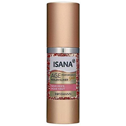 ISANA Age Performance Gold Perlen-Elixier 30 ml für sehr reife, müde Haut, mit Rosen- &...