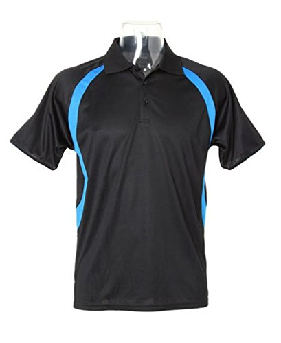 Cooltex® Riviera Poloshirt Black/Electric Blue