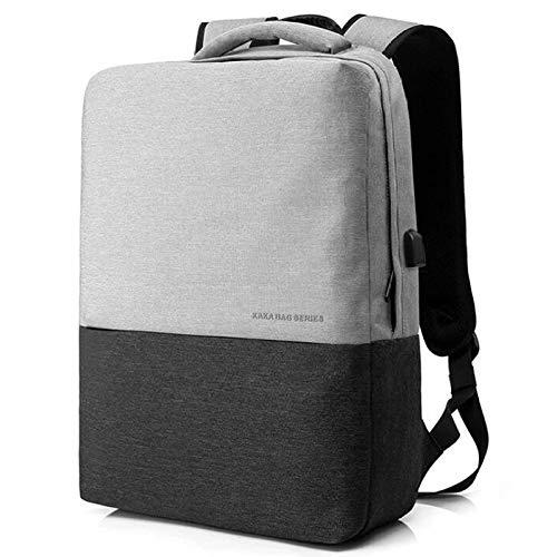 GAOQQ 15.6-Zoll-Laptop-Rucksack, 16-Zoll-College-Student-Anti-Diebstahl-Rucksack,Grey