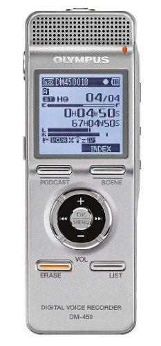 Olympus DM-450 Digitaler Rekorder mit Flash-Datenspeicher 2 GB WMA MP3 silbern