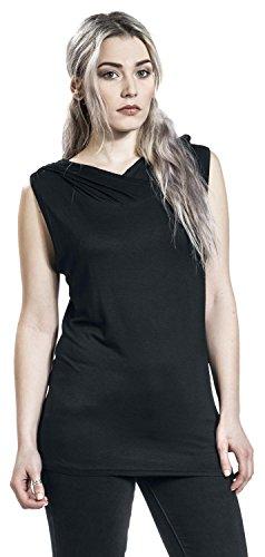 Spiral Gothic Elegance Top Femme noir Noir