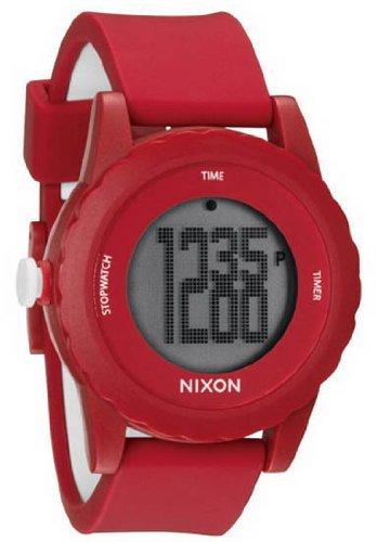 Nixon Montre unisexe A326-200 Genie en résine plastique rouge affaire Digital Quartz rouge Rub