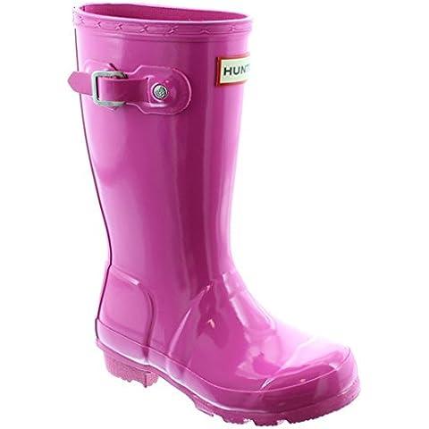 Young Hunter-Stivali in gomma lucida, taglia fino a 5, colore: rosa - Lips Gomma