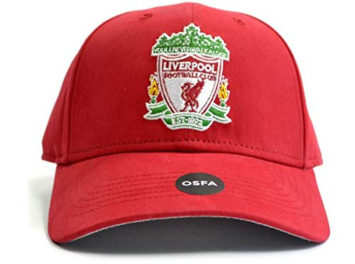 Liverpool FC Red Crest Cap - Authentic EPL Merchandise -