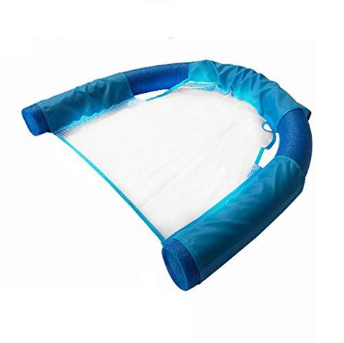 DWJ Schwimmen Schwimmender Stuhl, Schwimmbad Schwimmen Gerät Lounge-Sessel Wassersitz Freizeit Spielzeug (Color : Blue, Size : 7.5 * 150CM)