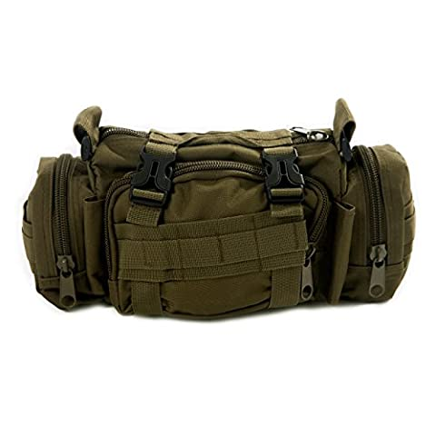 HDE Tactical Military Surplus Waist Pack Modular Utility Camping Hiking Med Bag (Army Green)