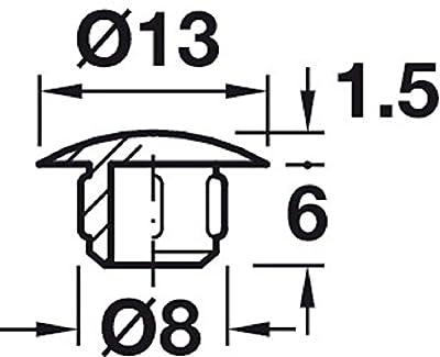 Gedotec Möbel-Abdeckkappen rund Schrauben-Kappe rundlich | H1116 von Gedotec - Gartenmöbel von Du und Dein Garten