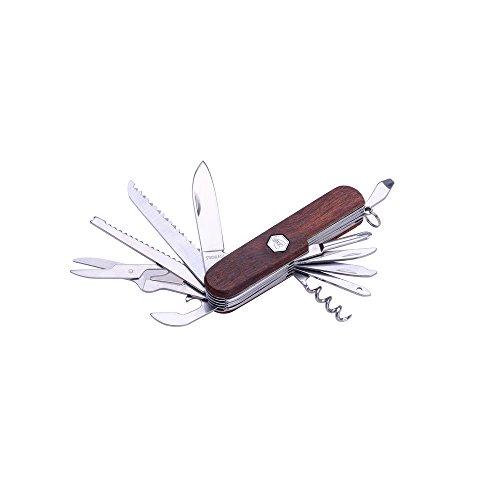 LAGUIOLE - Couteau multifonctions manche en bois de santal rouge - acier inoxydable, bois de santal rouge - Marron foncé