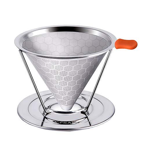 OHQ Kaffeefilter, 304 Edelstahl Separater Stand über Kaffeefilter für 1-4 Tassen mit Abnehmbarer...