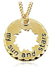 TBOP NECKLACE Europe And The United States Jewellary Letters My Sun And Stars Sun Alloy Necklace In Gold Color