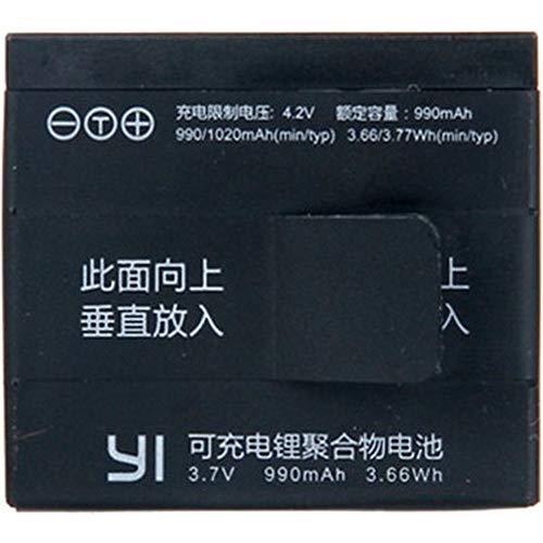YI Originale Ersatz-Akku für 4K Action Kamera (Offizielle Zubehör), 3.85V, 1400mAh schwarz