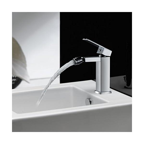 AuraLum Grifo Mezclador para Bidet | Grifo para Bidé de Latón Macizo con Drenaje de Residuos 1″1/4″ para Baño (Bidet Accesorios Set)