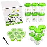 |Lot de 12| pot de conservation repas bébé en verre | Pour la conservation des repas bébé faits maison | hermétiques et réutilisables | écologiques et zéro déchets | facile à remplir et à nettoyer