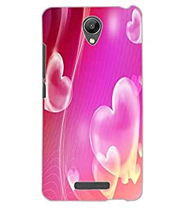 ColourCraft Love Hearts Design Back Case Cover for XIAOMI REDMI NOTE 2 PRIME
