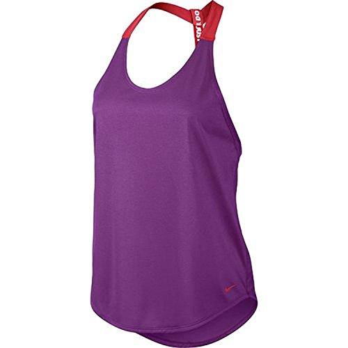 Elastika Frauen Nike Tank Top (M, Lila/Rot) (Aktiv Tank)