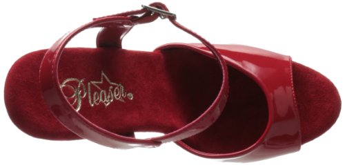 Pleaser - Flamingo-809, Sandali Donna Rojo (Rojo (Red Pat/Red))
