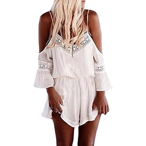 Fortan las mujeres tirantes halter trajes de playa playsuits ganchillo del verano del mameluco