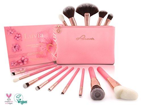 "Luvia Cosmetics - Beauty Pinsel-Set Mit Tasche ""Sakura Make-Up Brush Set"" Inkl. 14..."