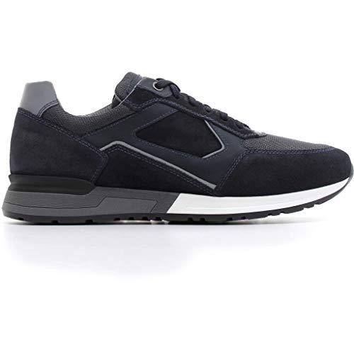 Nero giardini uomo sneaker a800560u blu scarpa in camoscio autunno inverno 2019 eu 45