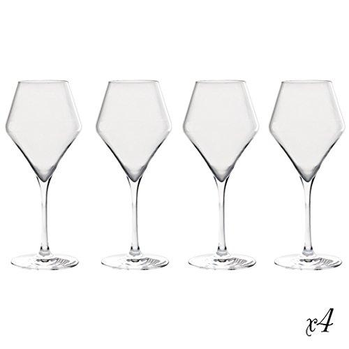Dibor - French Style Accessories for the Home Lot de 4 – Luxe Français Sibyla Clair Verre à vin 38 cl