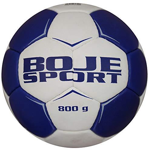 Boje Sport Gewichtsball Herren für Handballtraining, Größe 3, 800 g, Farbe: blau-weiß