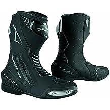 Botas Piel Moto Profesional Transpirable Calzado Motocicleta Yamaha Negro 42
