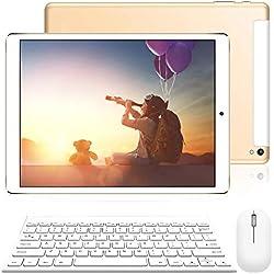 Tablette Tactile Ecran 10 Pouces - 4G Doule SIM/WiFi 3Go RAM 32Go ROM Android 8.1 8500mAh Batterie Quad Core Bluetooth GPS OTG Or