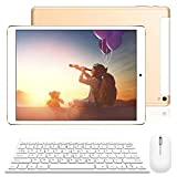 Tablet 10 Pulgadas 2 en 1 Tablet PC 4G/WiFi, 3GB RAM+32GB ROM/128GB Android 8.1(teclado y mouse etc 9pcs Accesorios) 8500mAh Quad-Core Dual SIM Bluetooth/GPS/OTG Tablets de función de Llamada Youtube