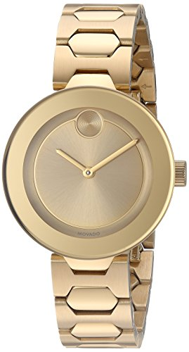Movado Women's Swiss Quartz Tone and Gold Plated Watch(Model: 3600382)