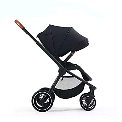 XIUSE&LEO Baby Stroller, Pushchair, Reversible Folding Pushchair, Compact Travel Pushchair, Lightweight Buggy Stroller with Adjustable Backrest,Black