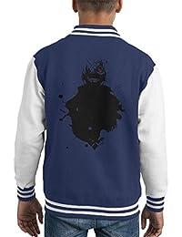 Kaneki Paint Splatter Tokyo Ghoul Kid's Varsity Jacket