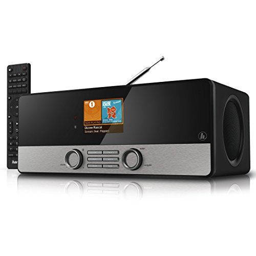 Hama DIR3100MS Internetradio Digitalradio (Spotify, WLAN/LAN/DAB+/DAB/FM, Farbdisplay, USB, Weck- und Wifi-Streamingfunktion, Multiroom, Fernbedienung, gratis Radio App) schwarz