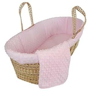 Tadpoles Dimple Velour Moses Basket, Pink, Garden, Haus, Garten, Rasen, Wartung
