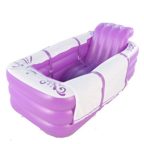 Aufblasbare Badewanne tragbarer Piscina verdickte Erwachsener mit Deckel Home Isolierung Badewanne Whirlpool SPA Portable für zwei Personen zusammenklappbar  Cyhione (Portable Whirlpool)