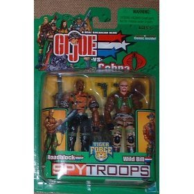 Gi Joe 3 3/4 Roadblock & Wild Bill 2 Pack SpyTroops by G. I. Joe