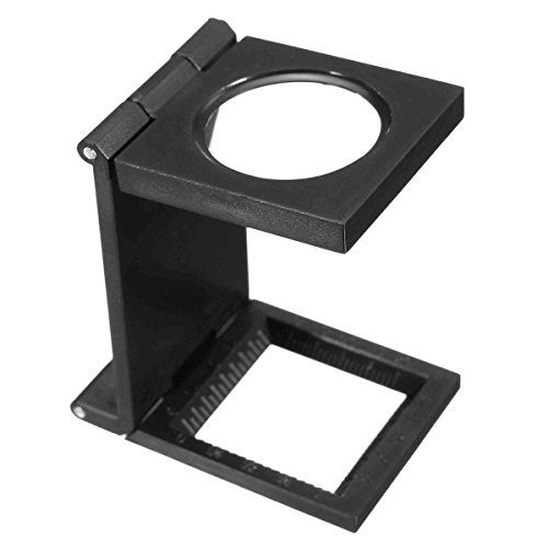 KUNSE 10X 28Mm Mini-Mikroskop Faltlupe Mit Skala