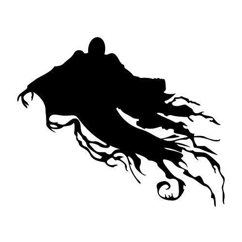 Wadeco Dementor Geist Grusel Wandtattoo Wandsticker Wandaufkleber 35 Farben verschiedene Größen, 150cm x 116cm, lindgrün