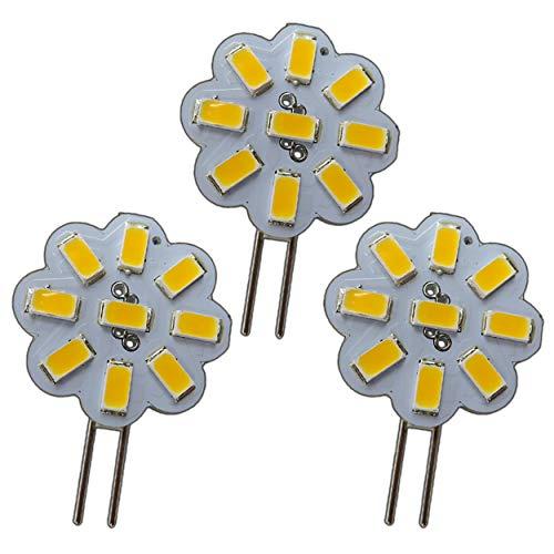 3x Stk. G4 Mini LED 2W Watt 12V AC/DC 9x5630 SMD Warmweiß Dimmbar 120° Rund Strahler Spot Energiesparlampe Halogenersatz A++ PB-Versand®