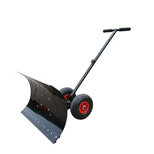 Snow Pusher (Rolling Snow Pusher Shovel, Heavy-Duty Rolling Einstellbare Schneeschieber Mit 6