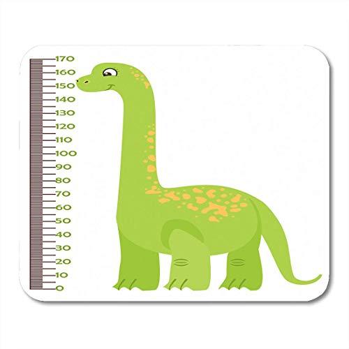 Luancrop Mauspads Grüner Dino der Kinder Messlatte Cartoon Dinosaur Meter Wand Baby Waage Wachstum in Flacher Länge Mousepad für Laptop, Desktop-Computer Bürobedarf Mauspads