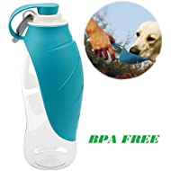 Jhua Dog Water Bottle Travel Bowls for Pets Portable Leakproof Drinking Bottle for Dog BPA Free Safe Bottle for Travel (Blue)