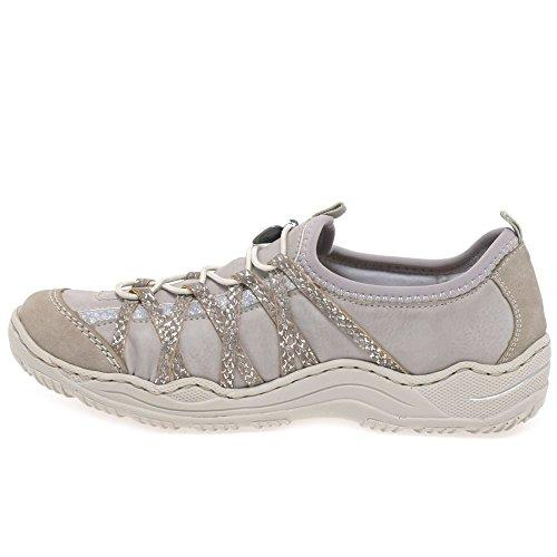 Rieker L0559, Sneakers Basses Femme Gris
