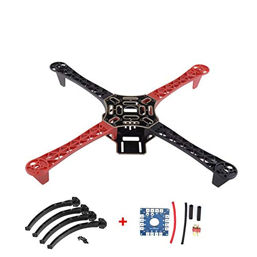 CHOULI F450 450 RC Drone Frame with Landing Gear Wheel Leg 12V Electric Board Kit red &Black - 450 Landing