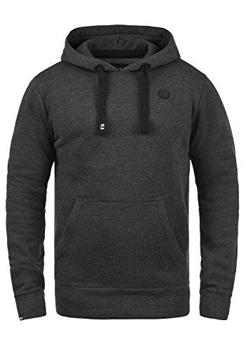 !Solid Beno Herren Kapuzenpullover Hoodie Pullover Mit Kapuze Und Fleece-Innenseite, Größe:M, Farbe:Dark Grey Melange (8288)
