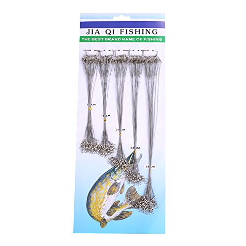 Forfar 100Pcs Fly Sea Angeln Spinner Blei Line Trace Lure Anti Biss Fisch Stahl Stahlvorfächer Tackle
