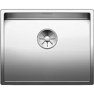 521577Blanco Claron 500U Stainless Steel Inset Sink for Undermount Kitchen Sink–Stainless Steel Satin