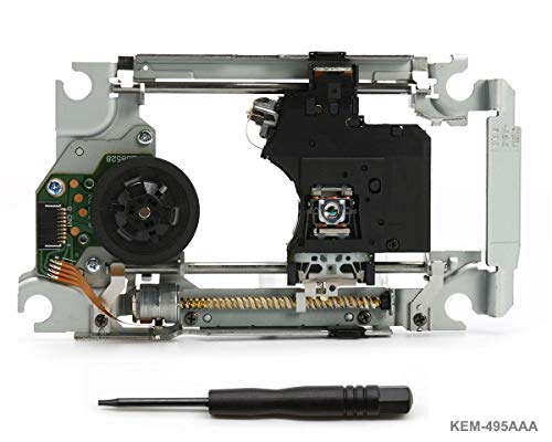 PS3 Lente láser de repuesto KEM-495AAA con Lens Deck KES-495 - Replacement Laser Pieza de reparación de Blu Ray Unidad de motor de módulo de unidad de DVD con cabeza óptica para PlayStation 3 Super Slim