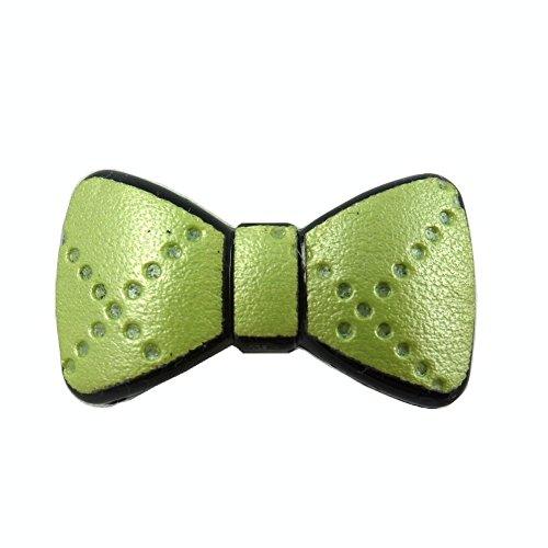 rougecaramel - Accessoires cheveux - Mini pince cheveux fantaisie forme noeud - vert